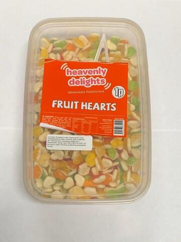 Frugt Hjerter Heavenly Delights 900g